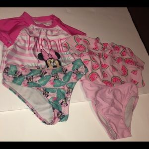 Other - Toddler Girl 4PC Bathing Suit Bundle 4T